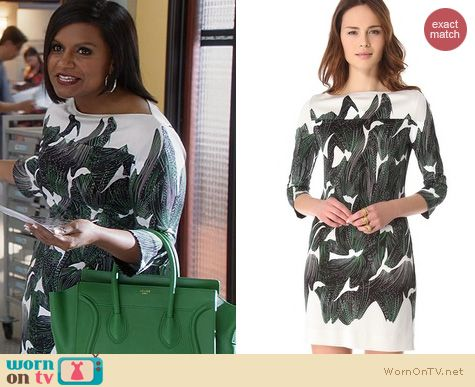 The Mindy Project Style: Diane von Furstenberg Ruri Dress worn by Mindy Kaling