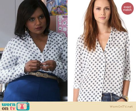 The Mindy Project Style: Equipment Keira Country Filigree Blouse worn by Mindy Kaling