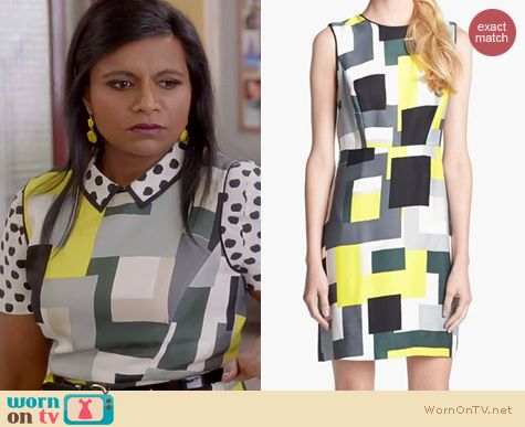 The Mindy Project Fashion: Kate Spade Della Loden Manhattan City Blocks worn by Mindy Kaling