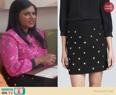 Kate Spade Studded Harper Skirt worn on The Mindy Project