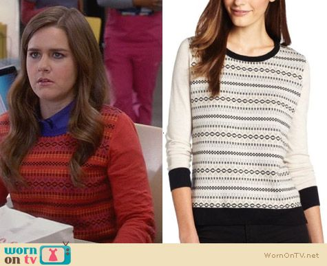 The Mindy Project Fashion: Kensie Novelty Sweater worn by Zoe Jarman