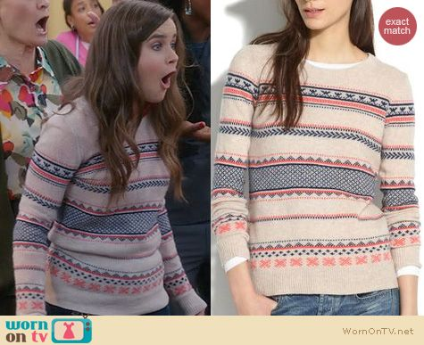 The Mindy Project Fashion: Madewell Fair Isle Sweater worn by Zoe Jarman