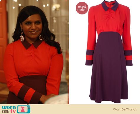 Mindy Project Fashion: Marc by Marc Jacobs Anya dress worn by Mindy Kaling