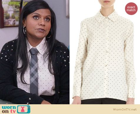 The Mindy Project Style: Marc by Marc Jacobs Flocked Dot Shirt