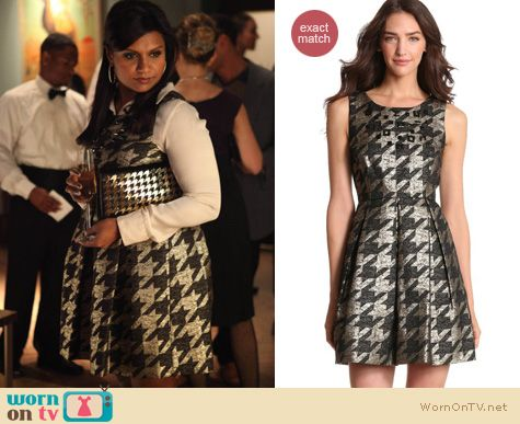 Mindy Project Fashion: Miss Sixty houndstooth dress worn by Mindy Kaling