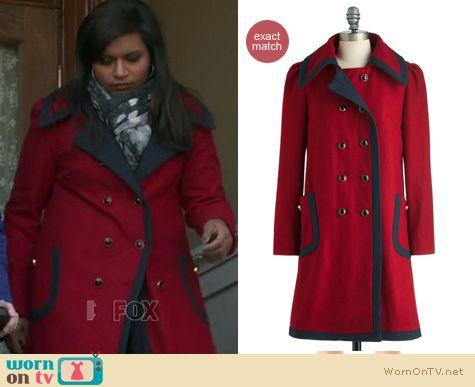 Similar red coat at Modcloth