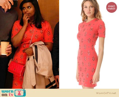 The Mindy Project Fashion: Opening Ceremony 'Aurora' dress worn by Mindy Kaling
