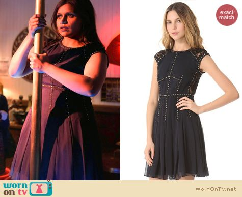 The Mindy Project Fashion: Rebecca Taylor Silk lace T dress worn by Mindy Kaling