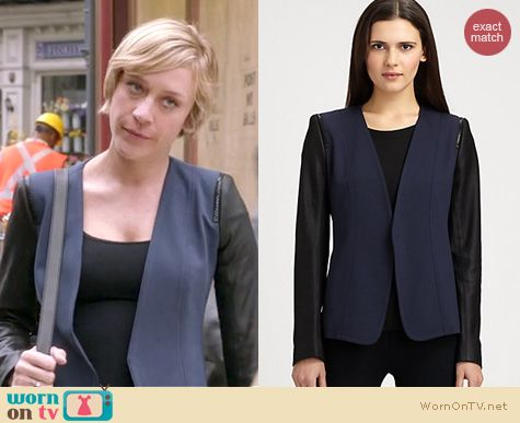The Mindy Project Fashion: Theory Yaisa jacket worn by Chloe Sevigny