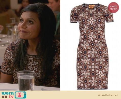 The Mindy Project Fashion: Tory Burch Natalie Dress worn by Mindy Kaling