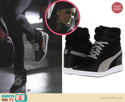 The Mindy Project Shoes: Puma Sky Wedge Sneakers worn by Mindy Kaling