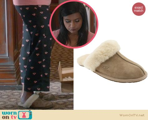 The Mindy Project Style: Ugg Scuffettes worn by Mindy Kaling