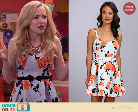 MinkPink Queens Garden Dress worn by Dove Cameron on Liv & Maddie
