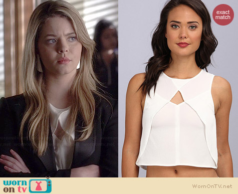 MinkPink Ray of Light Top worn by Sasha Pietrse on PLL