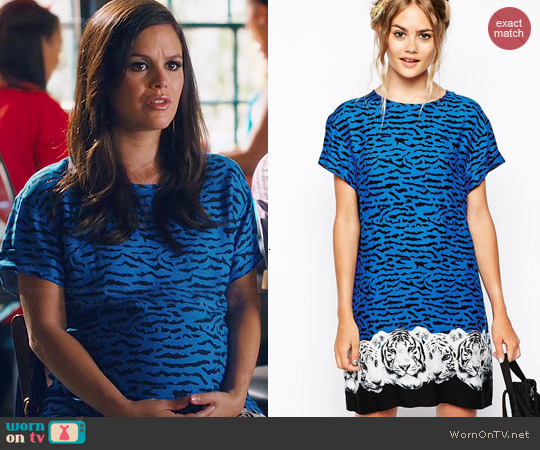 MinkPink Tiger Night T-Shirt Dress worn by Rachel Bilson on Hart of Dixie