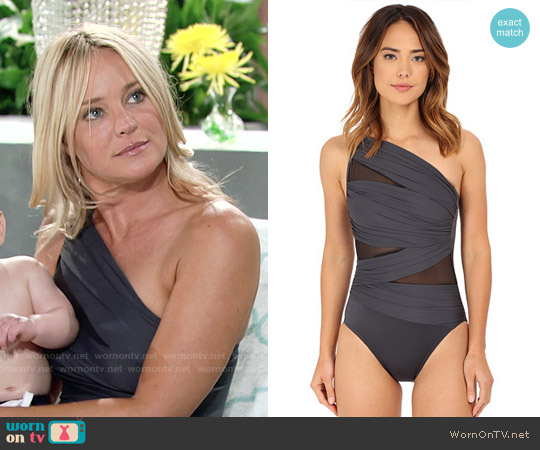 Miraclesuit Jena One Piece Swimsuit worn by Sharon Case on The Young & the Restless