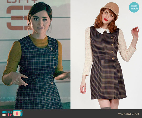 Miss Patina Primrose Pinafore Dress worn by Jenna Coleman on Doctor Who