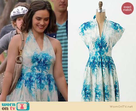 Mistresses Fashion: Anthropologie Flared Annabelle dress worn by Shannyn Sossamon