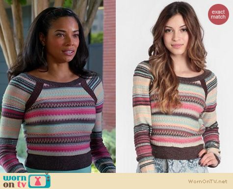 Mistresses Fashion: Free People Twinkle Stars Pullover worn by Rochelle Aytes