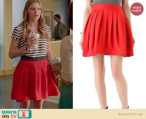 Mistresses Fashion: Halston Heritage Bell Skirt with pockets worn by Jes Macallan