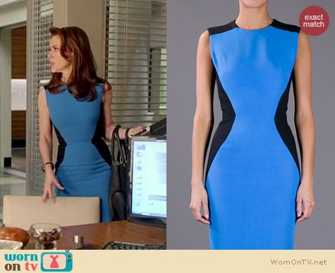 Mistresses Fashion: Victoria Beckham Hourglass dress worn by Alyssa Milano