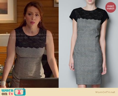 Mistresses Fashion: Zara Combined Lace dress worn by Alyssa Milano