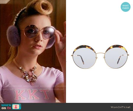 Miu Miu MU51Q Round Sunglasses worn by Chanel #3 on Scream Queens
