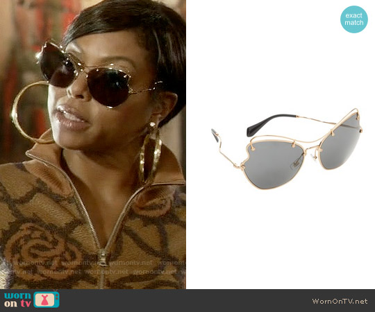 Miu Miu Butterfly Sunglasses worn by Cookie Lyon on Empire