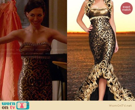 MNM Couture Dress KH024 worn by Naya Rivera on Glee