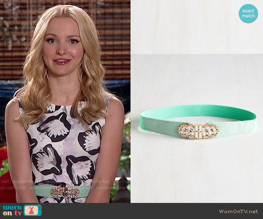 ModCloth Little Bit of Glitz Belt in Mint worn by Liv Rooney on Liv & Maddie