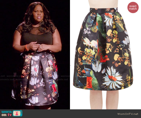 ModCloth Back On Tropic Skirt worn by Amber Riley on Glee