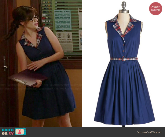 ModCloth Beacon of Charm Dress worn by Zooey Deschanel on New Girl