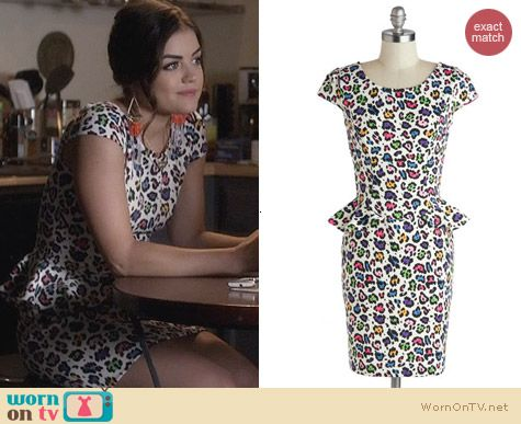 ModCloth Betsey Johnson Purr-ty Animal Dress worn by Lucy Hale on PLL
