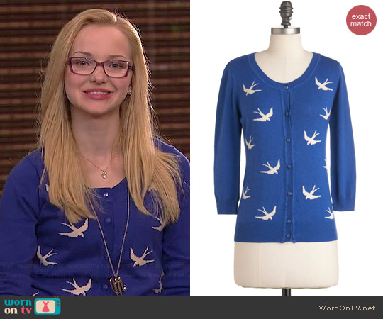 ModCloth Birdlandia Cardigan worn by Dove Cameron on Liv & Maddie