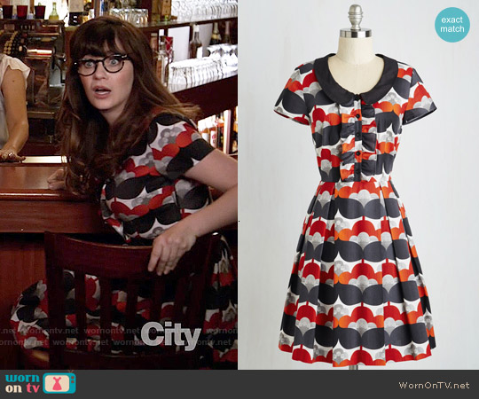 ModCloth Bonbon Nuit Dress worn by Zooey Deschanel on New Girl