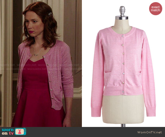 ModCloth Button Jar Cardigan worn by Ellie Kemper on Unbreakable Kimmy Schmidt