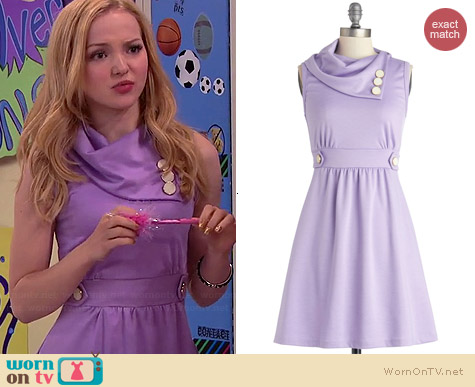 ModCloth Coach Tour Dress in Lavender worn by Dove Cameron on Liv & Maddie