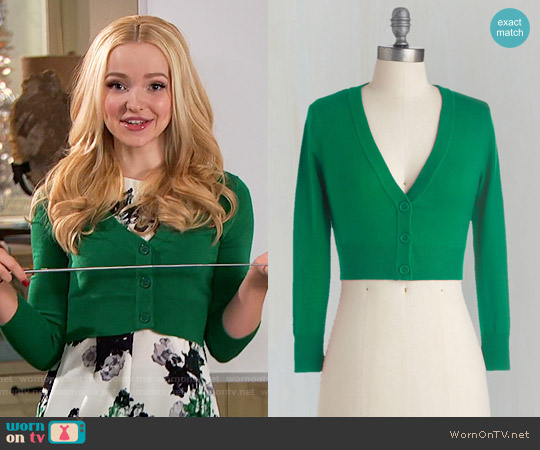 ModCloth The Dream of the Crop Cardigan in Kelly Green worn by Liv Rooney on Liv & Maddie