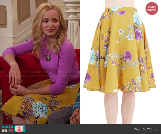 ModCloth Ikebana Skirt worn by Dove Cameron on Liv & Maddie