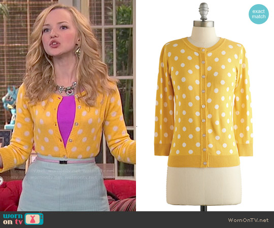 ModCloth Jukebox Jubilee Cardigan worn by Dove Cameron on Liv & Maddie