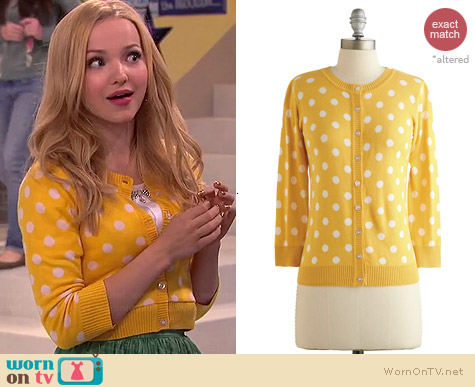 ModCloth Jukebox Jubiliee Cardigan worn by Dove Cameron on Liv & Maddie