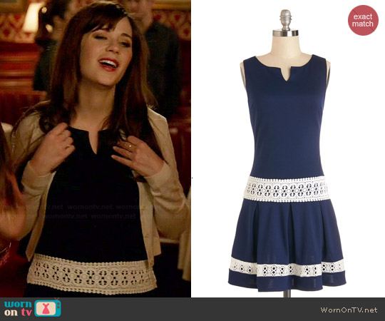 ModCloth Life of the Dinner Party Dress worn by Zooey Deschanel on New Girl