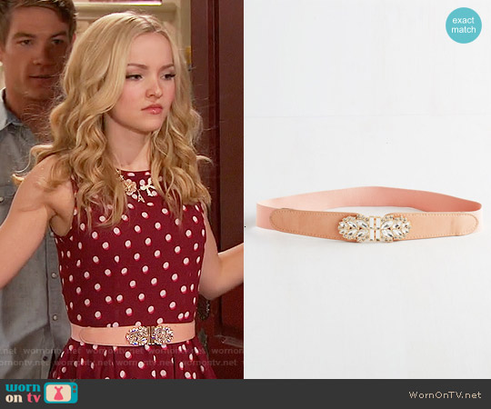 ModCloth Little Bit of Glitz Belt in Rose worn by Liv Rooney on Liv & Maddie