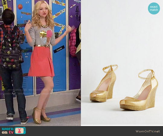 ModCloth Rush of Gold Wedge worn by Liv Rooney on Liv & Maddie