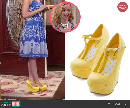 ModCloth Take if from the Taupe Wedges in Sunshine worn by Liv Rooney on Liv & Maddie