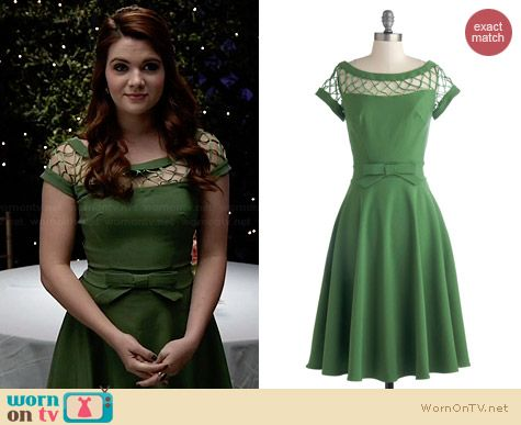 Tatyana/Bettie Page With Only A Wink Dress in Peridot worn by Katie Stevens on Faking It