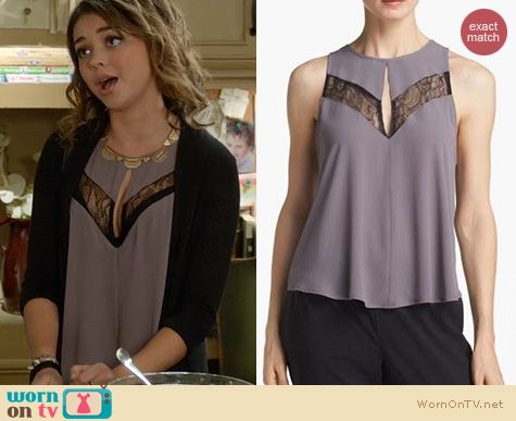 Modern Family Fashion: ASTR Lace Inset Top worn by Sarah Hyland