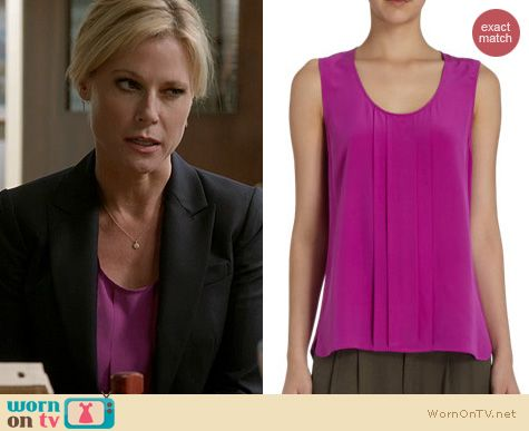 Modern Family Fashion: Barney's pink pleated front tank worn by Julie Bowen
