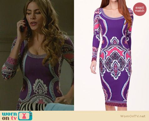 Modern Family Fashion: Hale Bob Oksana Dress worn by Sofia Vergara
