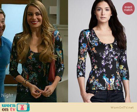 Modern Family Fashion: Just Cavalli Paradise Top worn by Sofia Vergara